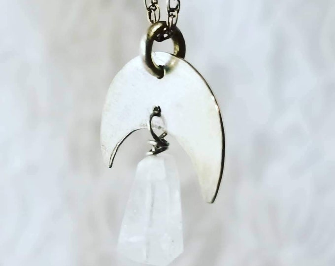 OOAK Artisan Made Moonstone Pendant Necklace ~ Chain is Marked 925 ~ Crystal Healing Energy ~ Made in Alaska ~ Original Tags