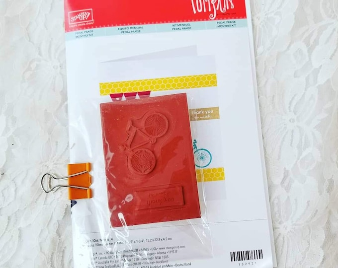 CLEARANCE BICYCLE Cardmaking Kit ~ Stamp, Sticker, Cards, Envelopes ~ Supplies for Paper Crafts, Card-making, Scrapbooks