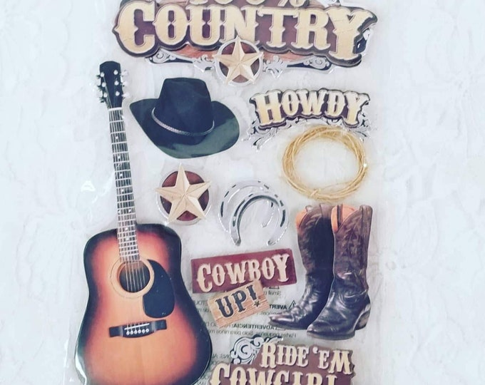 Scrapbooking Stickers ~ Country Music ~ Rock & Roll ~ Elvis ~ Music ~ Paper Crafts, Card-making, Scrapbooks