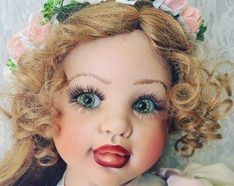 "No Reserves Anamaya Haunted Doll ~ Life Size HUGE Fayzah Spanos Vinyl 28""~ Paranormal ~ Indigo ~ Clairsentient ~ Gifted ~ Intelligent"