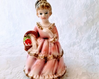 Vintage Girl Music Box ~ Plays Unknown Song, I recognize it from the 30's but Don't know it ~ Spins on Base ~ Marked Underneath