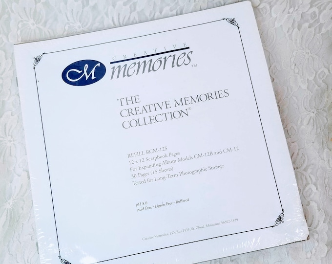 Creative Memories Collection 12x12 New In Package 30 Pages (15 Sheets) Refill Pages Refill RCM-12S