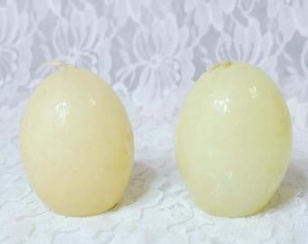 Retro 1985 Enesco Set of Two (2) Life Size Easter Egg Candles ~ Easter Décor ~ Spring Décor ~ Ostara Altar