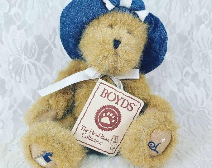 "Boyd's Bears Collectible Bear ~ Stuffed Toy Bear Plush 8"" W/Tags"