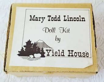 Porcelain Doll Making Kit ~ Yield House ~ Mary Todd Lincoln ~ COMPLETE Do It Yourself ~ Comes with Fabric, Pattern, Limbs and Head
