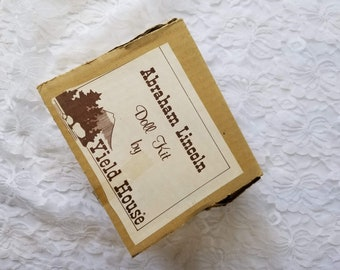 Porcelain Doll Making Kit ~ Yield House ~ Abraham Lincoln ~ Do It Yourself ~ Comes with Limbs and Head ONLY