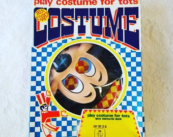 Creepy Toddler Ben Cooper Disney Mickey Mouse Costume for Halloween ~ Child or Large Doll Costume LARP Cosplay ~ SIZE 3-5