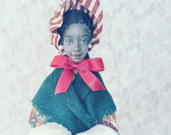 African American Christmas Doll Caroler ~ House of Lloyd ~ Holiday Decor ~ Christmas ~ Collectible Doll ~ With Tags