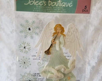 Scrapbooking Stickers: Jolee's Boutique & Recollections Christmas Angel Stickers ~ Holidays ~ Winter ~ Religious