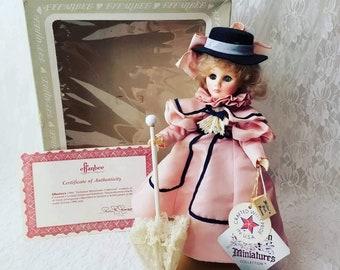 "Vintage Effanbee RARE Limited Edition 13"" Vinyl Doll ~ 1985 Victorian Miniatures ~ Salisbury Blue #1147 Original Box and Tag"