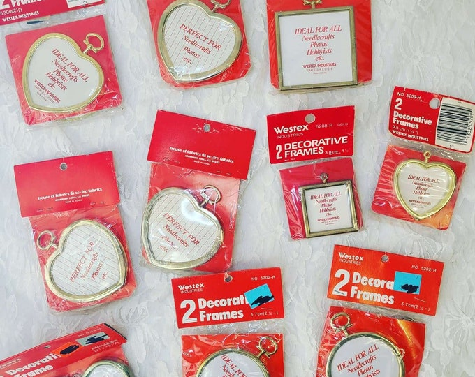 Vintage Destash Craft Metal Frames for Crafting ~ For Needlepoint ~ Miniatures ~ Photos