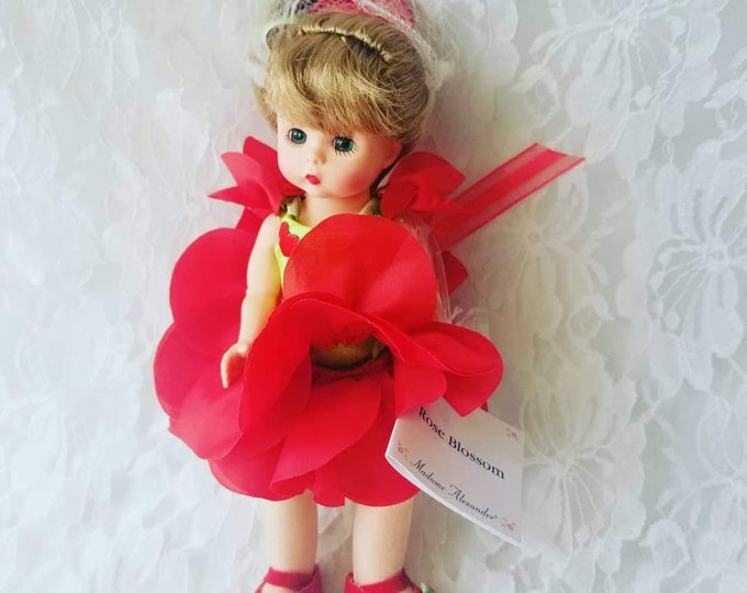 """Vintage Madame Alexander 8"""" Rose Blossom  Doll ~ With Hand Tag ~ RARE HTF Tagged Outfit with Shoes"""