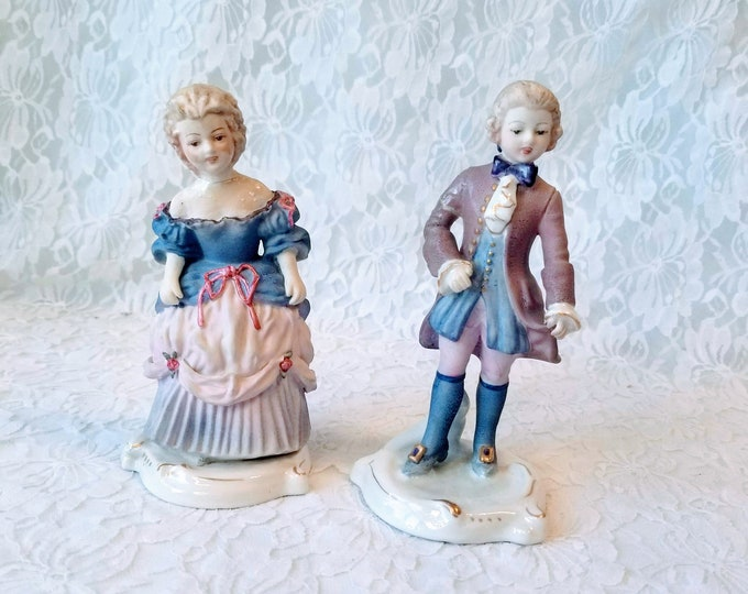 Set of Two (2) Amazing Antique French Rococo Figurines ~ Statues ~ French Couple ~ Amazing Detail ~ Rare ~ Sold As-Is