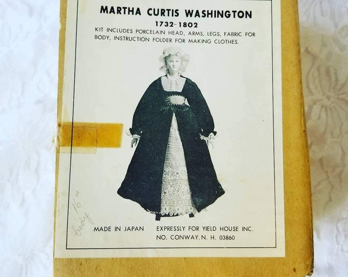 Porcelain Doll Making Kit ~ Yield House ~ Martha Washington ~ COMPLETE Do It Yourself ~ Comes with Fabric, Pattern, Limbs and Head