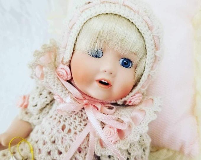 Patricia Loveless Kestner Reproduction Hilda Doll ~ Full Body Porcelain ~ JDK Kestner 237~ With Box, COA, and Hand Tag