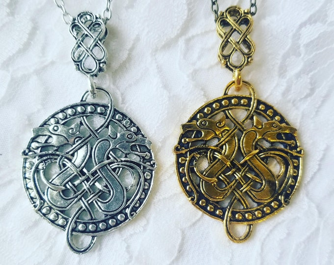 No Reserves Enchanted Celtic Double-Headed Snake Necklaces ~ Witchcraft ~ Goddess Etain ~ Transformation Spell ~ Change, Rebirth, Progress
