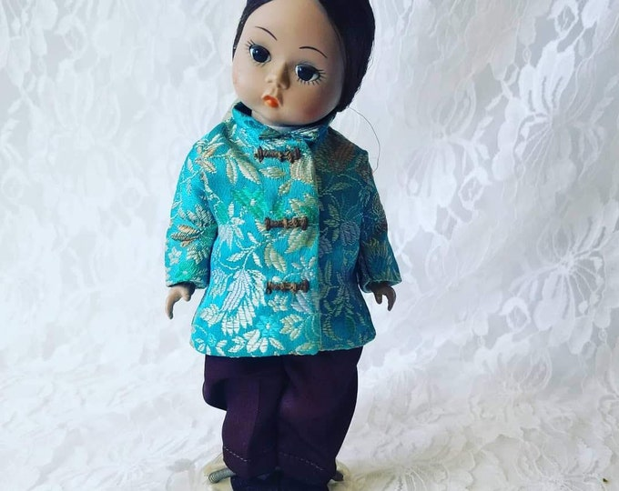 "Clearance Vintage Madame Alexander 8"" China International Doll ~ RARE HTF Tagged Outfit with Shoes ~ Needs TLC"