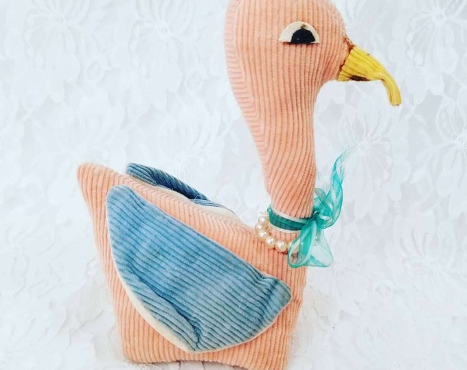 Amazing 1950s Antique Stuffed Duck ~ Excellent Condition ~ Made in Japan ~ Vintage Toy ~ Antique ~ Collectible
