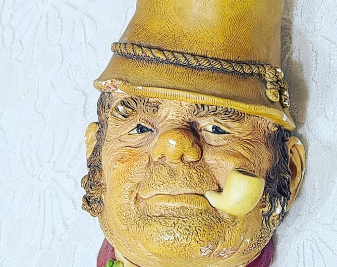 RARE Gorgeous BOSSONS 1969 Vintage Chalkware Head ~ Paddy ~ Marked on Back and Underneath ~ Sold As-Is See Pictures