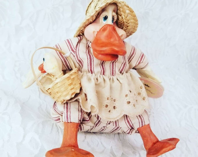 "Anthropomorphic Duck Doll ~ Russ ""The Country Folk"" Darcy Duck ~ Duck Decor ~ Duck Doll ~ Collectible Duck"