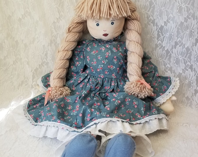 "Bertha Haunted Doll ~ HUGE 28"" Handmade Cloth Life Size ~ Paranormal ~ Weird ~ Nursing Home in Coral Gables"