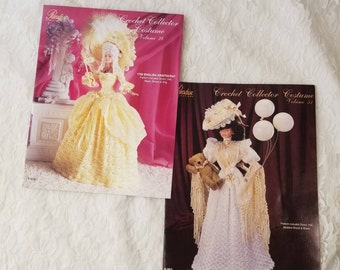 Set of 2 Barbie Fashion Doll Size Crochet Patterns ~ Paradise Publications ~ Crochet Collector Costume Volume 28 and 51
