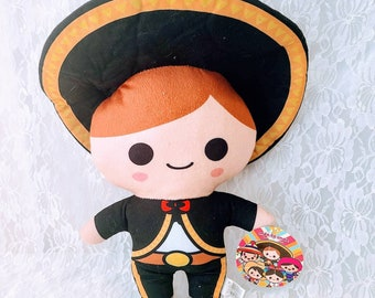 Mexico Lindo Mariachi Plush 12 Inch Doll ~ Stuffed Doll ~ Mexico