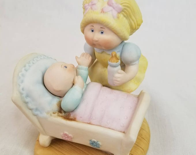 Cabbage Patch Kid Porcelain Figurine 1984 Xavier Roberts Limited Edition Collectible Figurine