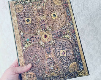 Intricate PaperBlanks Design Blank Journal ~ Embossed ~ Book of Shadows? ~ Magnetic Clasp Lock ~ Perfect for Spirit-Keeping ~ 8.5 by 11