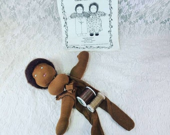 Waldorf Doll Cloth Doll Making Kit ~ Partially Completed ~ Comes with Everything ~ DIY ~ Comes with Fabric, Thread, Pattern, Limbs and Head