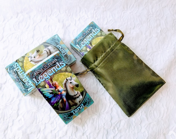 Anne Stokes Legends Tarot Oracle Cards Deck ~ With Satin Bag ~ Cartomancy ~ Divination ~ Esoteric Fortune Telling Cards