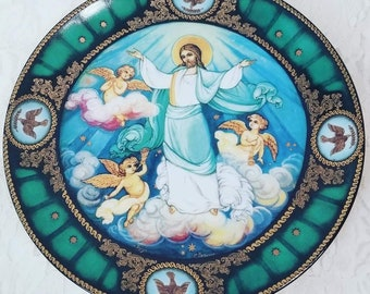 Kholui Art Studio Ascension ~ Light of Christ Series Limited Edition Plate By Sergei B. Devyatkin ~ Collectible Plate