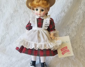 "VINTAGE Madame Alexander doll - #1525 McGuffey Ana ~ Madame Alexander 14"" Vinyl Doll with Hang Tag"