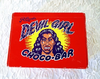 Vintage Rare Original Devil Girl Choco-Bar STASH Box ~ R.Crumb 1994 (It's Bad For You)