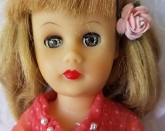 "1959 Circle P Fashion Doll ~ Competitor to Little Miss Revlon ~ 10.5"" Tall ~ Comes with bra, Panties, Shoes and Dress! Adorable!"
