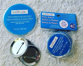 """Destash LOT of Creatology Button-Making Supplies ~ Make Your Own Buttons ~ 2.25"""" to 3"""" with Extras"""