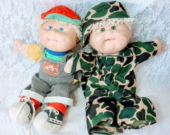 Set of Two (2) Cabbage Patch Kid BOYS ~Sold As-Is Needs TLC ~ One is from 1985 and one is from the 1990s