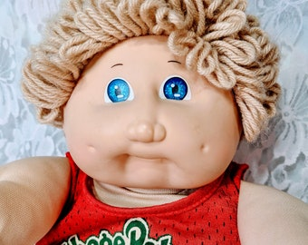 Cabbage Patch Kid BOY Male 1985 Blue Xavier Roberts Signature ORIGINAL Tagged CLOTHING Good Condition Well Loved Piece of My Past
