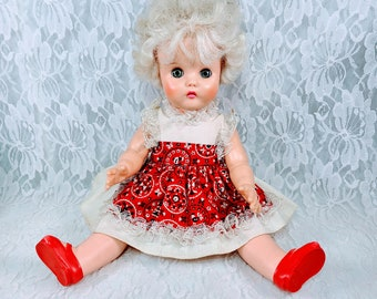 """No Reserves Beth Haunted Doll ~ 16"""" 1950s Fashion Doll Original Dress and Panties ~ Paranormal ~ Older Than She Looks ~ Watches Everything"""