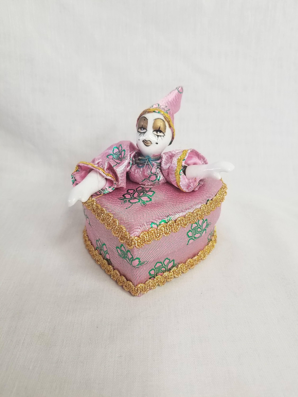 04384bb6c63 Harlequin French Mime Mardi Gras Clown Trinket Box ~ Gift Box ...