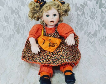 """MARIE OSMOND Candy Corn Tiny Tots #1397 Doll ~ 8""""  Doll ~ Rare Collectible Doll ~ RETIRED ~ Sold As-Is, No Box"""