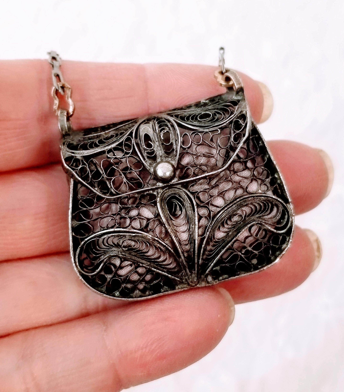 Antique French Miniature Chain Purse