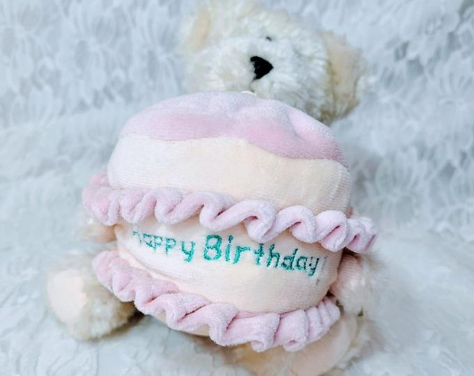"""Boyd's Bears Happy Birthday Bear Stuffed Toy Bear Plush 8"""" W/Tags"""