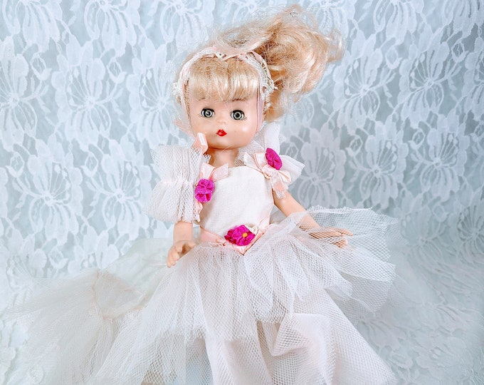 """Vintage CUTE Ballerina Doll ~ 1988 Effanbee Lil' Innocents Doll ~ Missing Shoes ~ Sold AS-Is ~ Rare Outfit! 9"""" Adorable ~ Great Condition"""