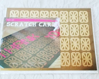 """Vintage Unused 1990s Digital Analog Look """"Scratcher"""" Scratch Off Customizable Greeting Card with Envelope ~ Urban Outfitters"""