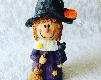 """Vintage Witch Resin Sculpture 6"""" Figurine ~ Halloween Decor ~ Fall Decor ~ Witchy Decoration ~ Midwest of Cannon Falls"""