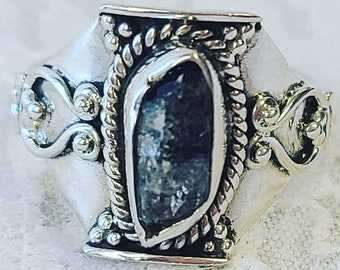 Amazing Herkimer Diamond Sterling Silver Ring ~ Size 7 ~ Crystal Healing Energy ~ Most Powerful of all Quartz Crystals