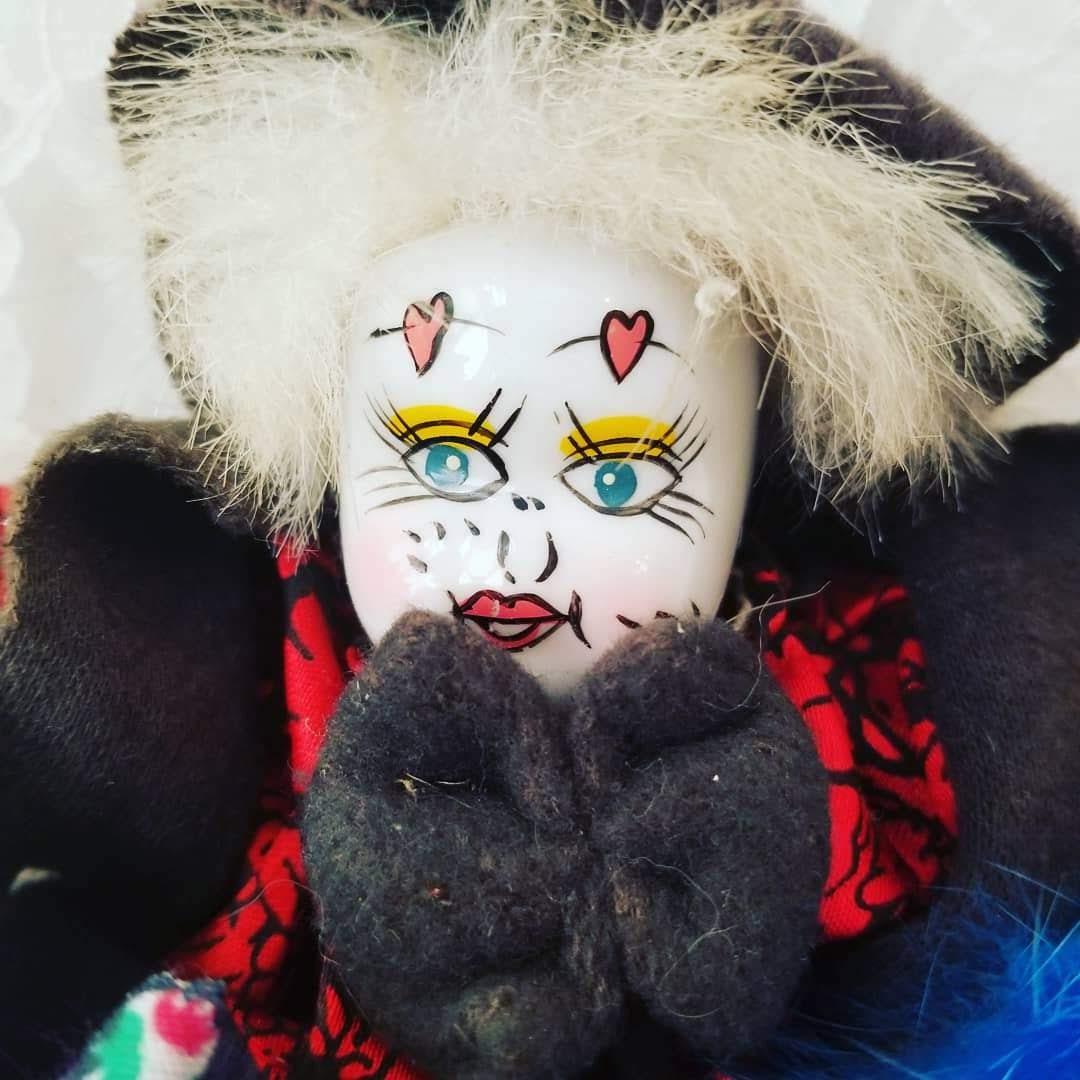 Lot of 5 Weird Creepy Clowns 4 - 7 Bendable Bean Bag Porcelain
