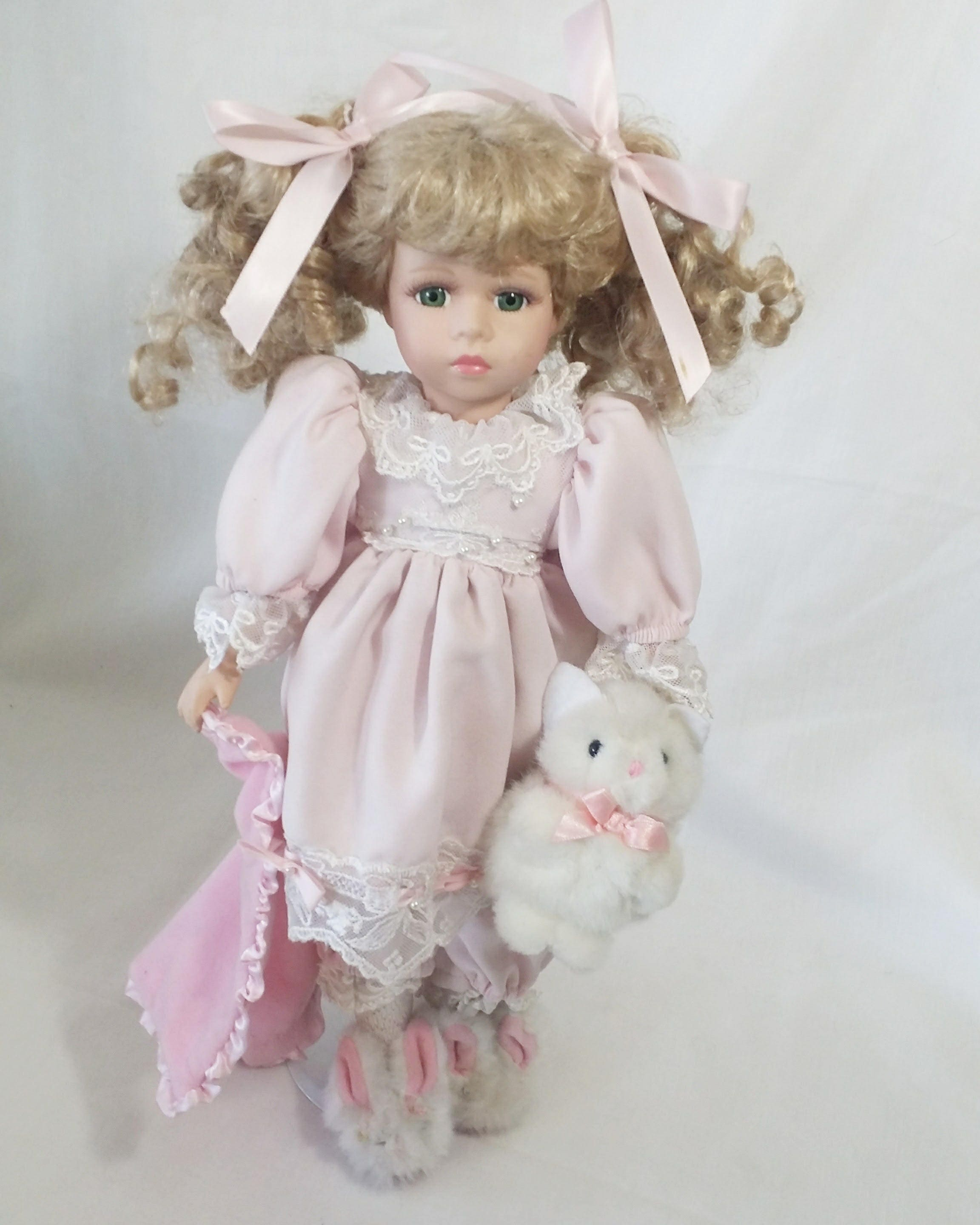 Katie ~ Haunted Vintage Porcelain Doll 17 Inch Doll ~ Paranormal