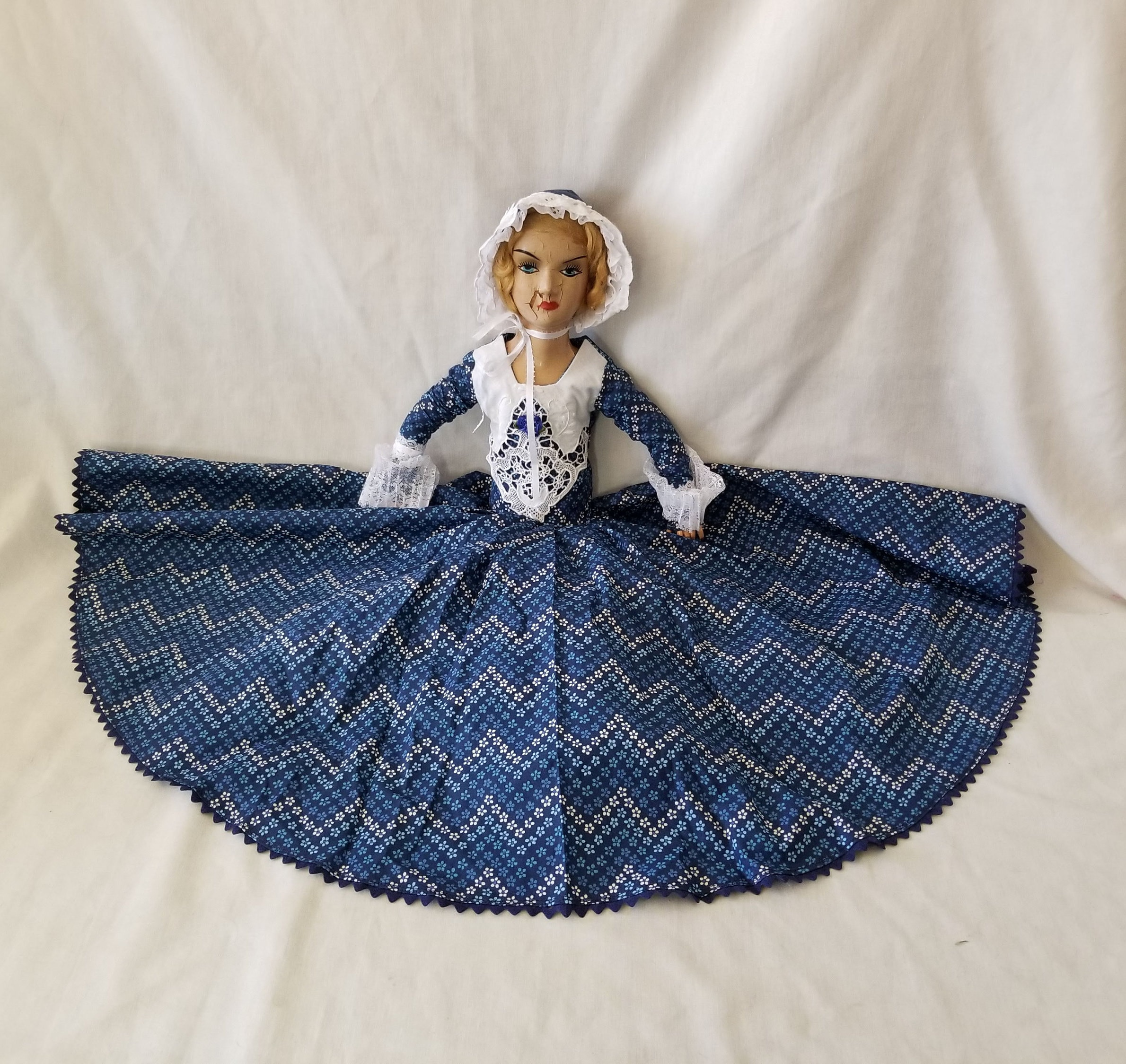69d6a7246ff5f5 Elaine (read notes) Haunted Doll ~Composition Antique French Boudoir  28